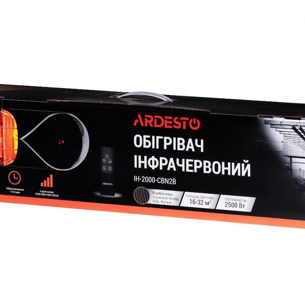 На фото: Карбоновий обігрівач Ardesto (IH-2000-CBN2B), Вуличні обігрівачі Ardesto, каталог, ціна