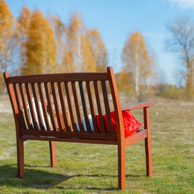 На фото: Деревяна лавка Windsor (07093), Лавки з дерева Garden4You, каталог, ціна