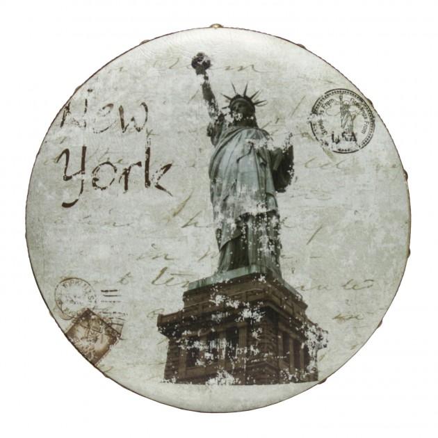 На фото: Пуфик New York (70225), Пуфи Home4You, каталог, ціна