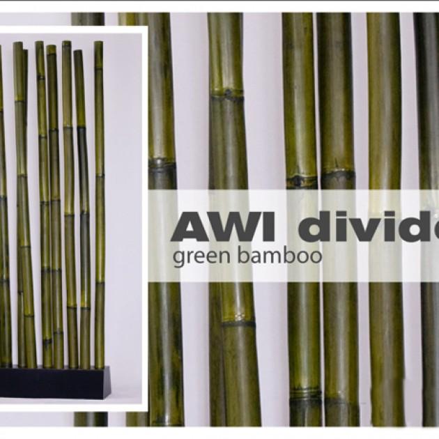 На фото: Бамбукова ширма Awi Green (300102), Ширми і дзеркала Вілла Ванілла, каталог, ціна