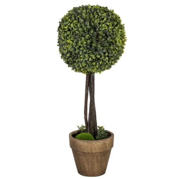 На фото: Штучне дерево Buxus (78007), Штучні квіти Home4You, каталог, ціна