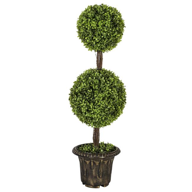 На фото: Штучне дерево Buxus (78008), Штучні квіти Home4You, каталог, ціна