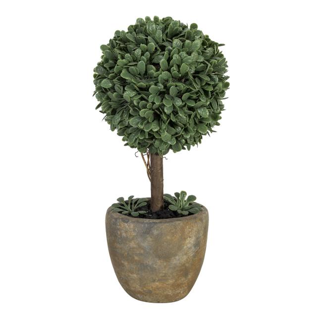 На фото: Штучне дерево Buxus (79775), Штучні квіти Home4You, каталог, ціна