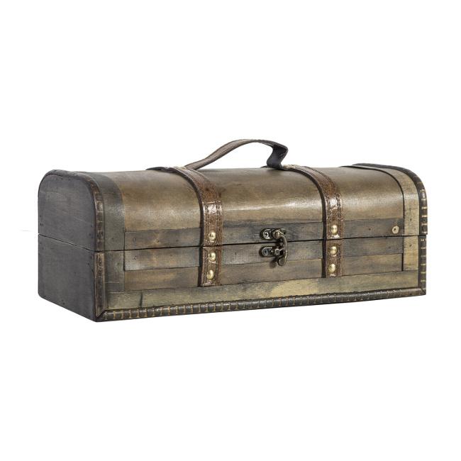 На фото: Коробка для вина Bao (80174), Шкатулки і коробки Home4You, каталог, ціна