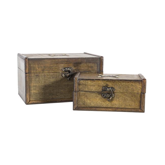 На фото: Набір скриньок Bao (8355), Шкатулки і коробки Home4You, каталог, ціна
