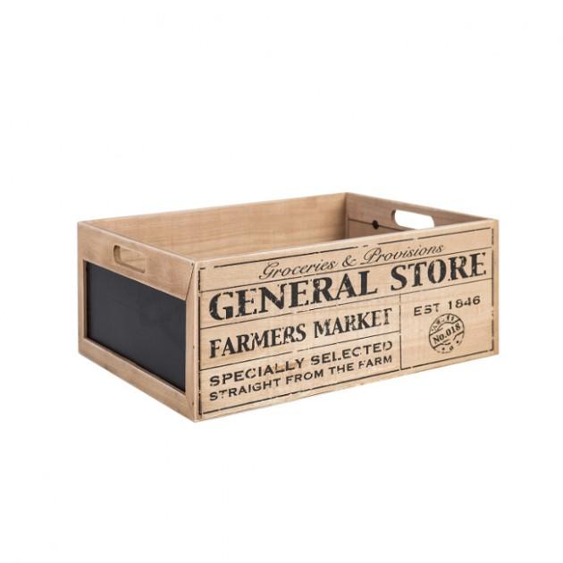 На фото: Деревяний ящик Cellar (74236), Сундуки і великі кошики Home4You, каталог, ціна