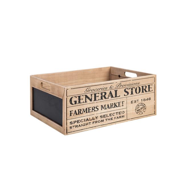 На фото: Дерев'яний ящик Cellar (74237), Сундуки і великі кошики Home4You, каталог, ціна