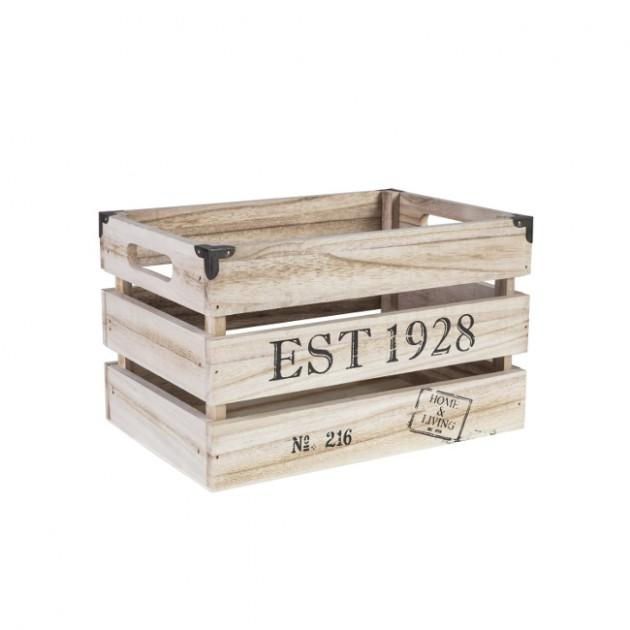 На фото: Деревяний ящик Cellar (74243), Сундуки і великі кошики Home4You, каталог, ціна