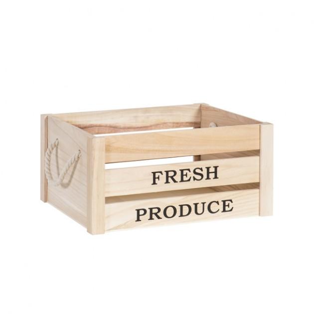 На фото: Деревяний ящик Cellar (77541), Сундуки і великі кошики Home4You, каталог, ціна
