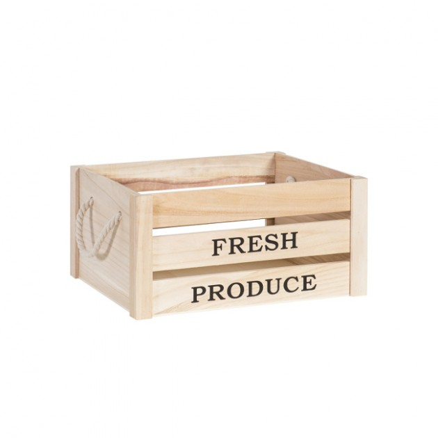 На фото: Деревяний ящик Cellar (77542), Сундуки і великі кошики Home4You, каталог, ціна