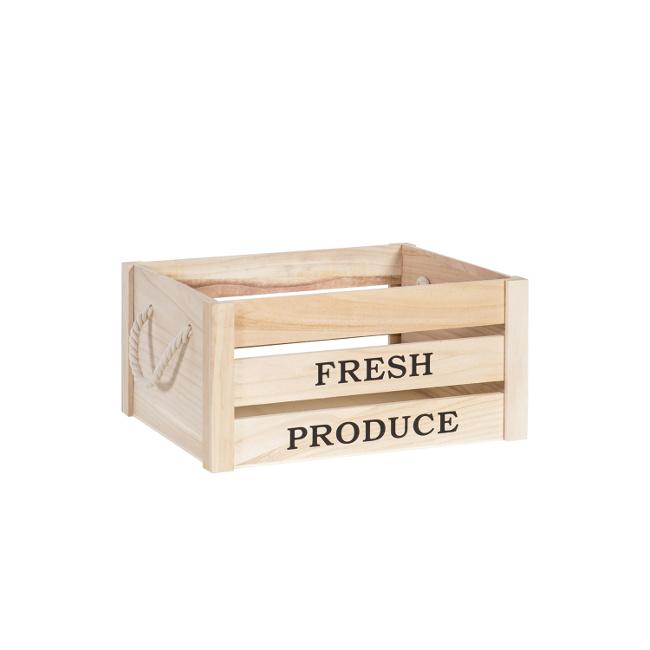 На фото: Дерев'яний ящик Cellar (77543), Сундуки і великі кошики Home4You, каталог, ціна