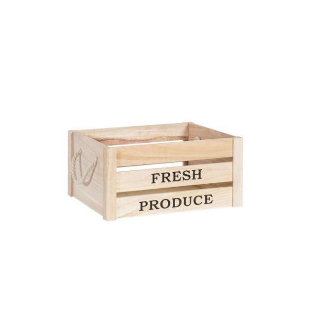На фото: Деревяний ящик Cellar (77544), Сундуки і великі кошики Home4You, каталог, ціна