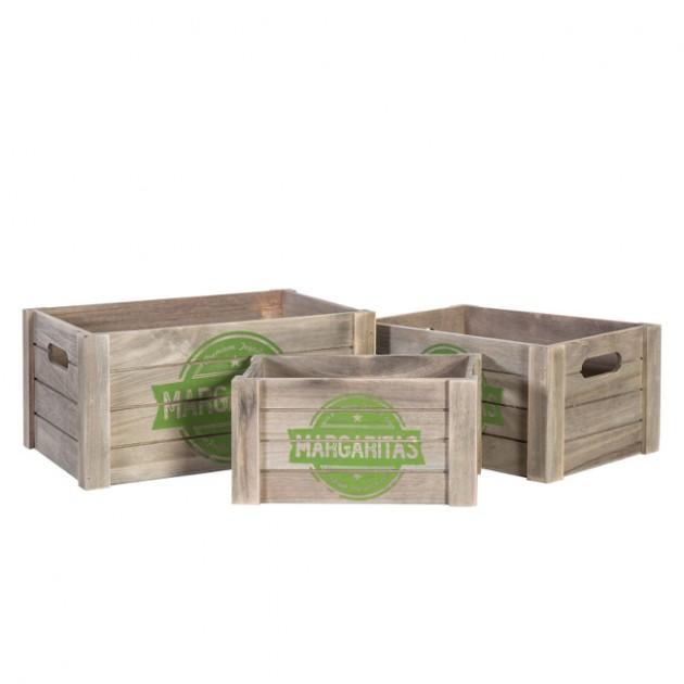 На фото: Набір ящиків Cellar (7755), Сундуки і великі кошики Home4You, каталог, ціна