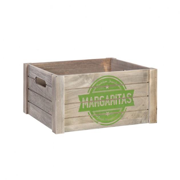 На фото: Деревяний ящик Cellar (77551), Сундуки і великі кошики Home4You, каталог, ціна