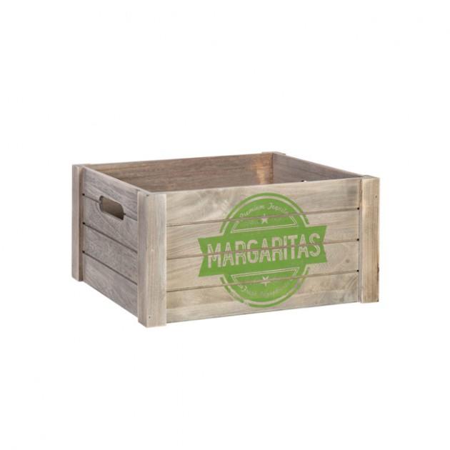На фото: Деревяний ящик Cellar (77552), Сундуки і великі кошики Home4You, каталог, ціна