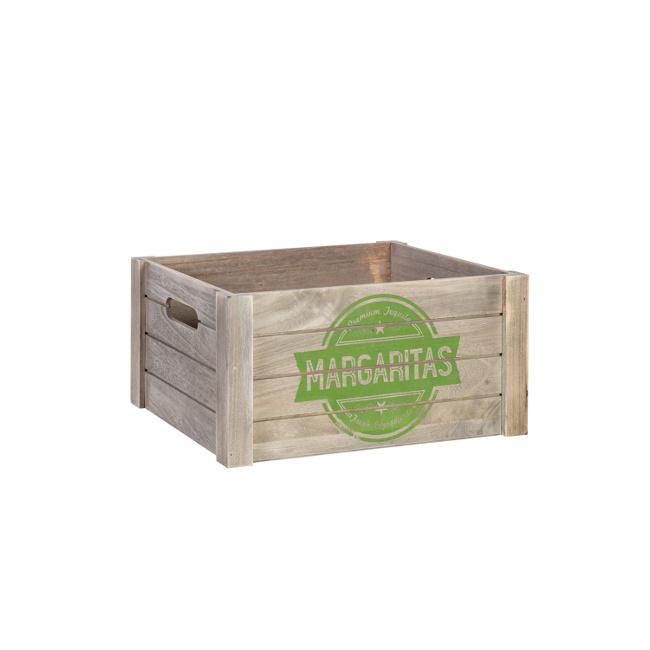 На фото: Дерев'яний ящик Cellar (77553), Сундуки і великі кошики Home4You, каталог, ціна