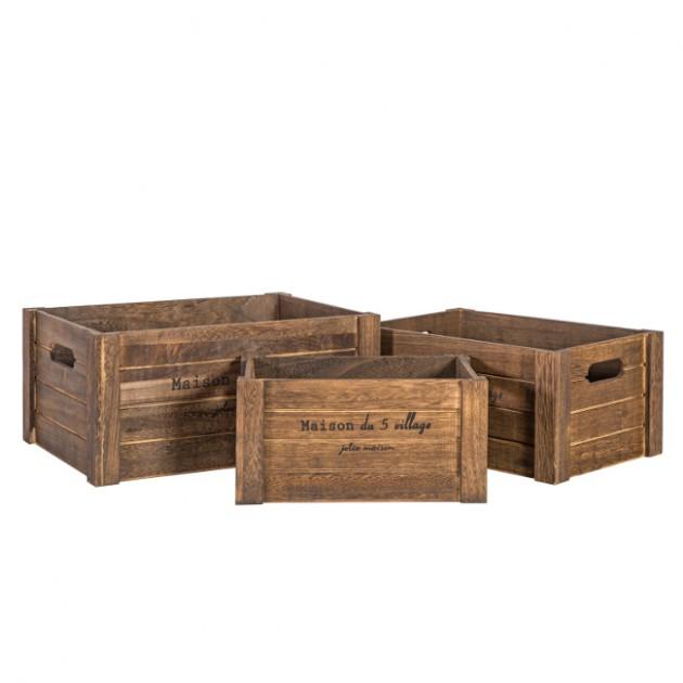 На фото: Набір ящиків Cellar (7756), Сундуки і великі кошики Home4You, каталог, ціна