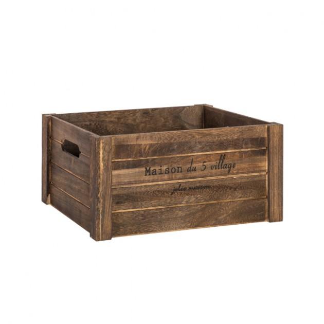 На фото: Деревяний ящик Cellar (77561), Сундуки і великі кошики Home4You, каталог, ціна