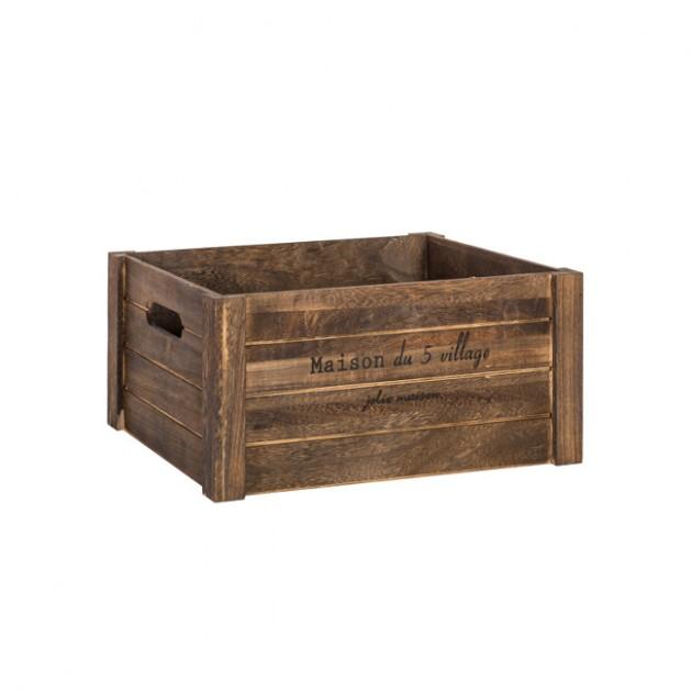 На фото: Деревяний ящик Cellar (77562), Сундуки і великі кошики Home4You, каталог, ціна