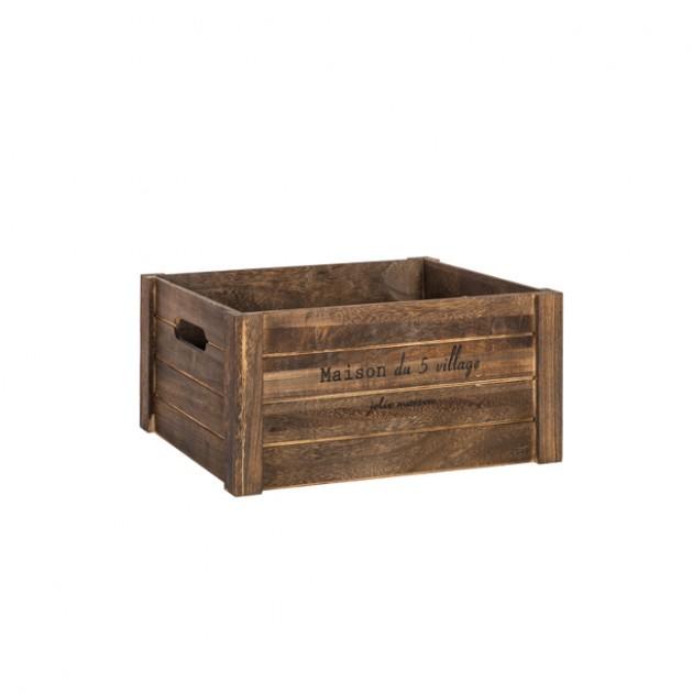 На фото: Деревяний ящик Cellar (77563), Сундуки і великі кошики Home4You, каталог, ціна