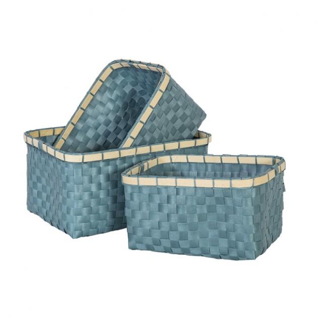 На фото: Набір кошиків Lido (8345), Плетені кошики Home4You, каталог, ціна
