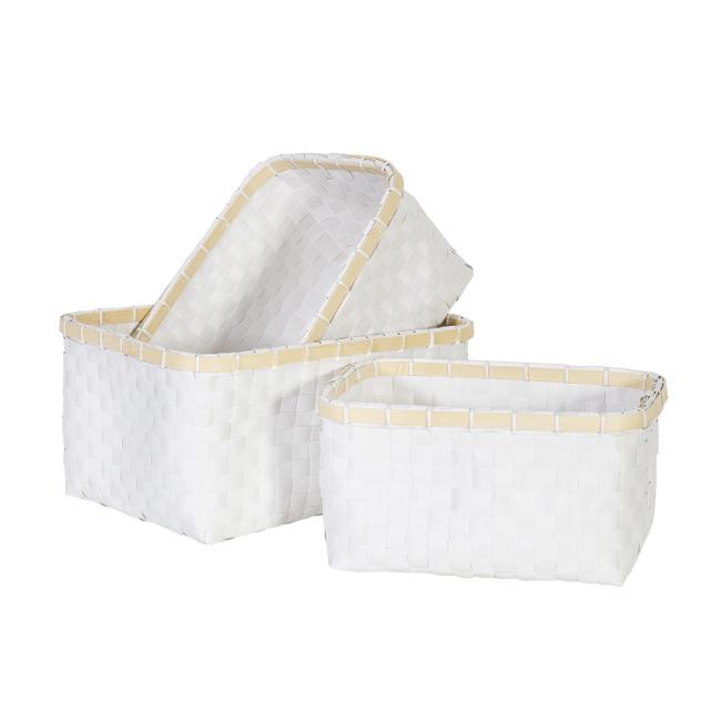 На фото: Набір кошиків Lido (8346), Плетені кошики Home4You, каталог, ціна