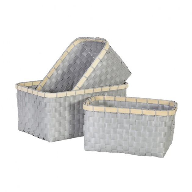 На фото: Набір кошиків Lido (8347), Плетені кошики Home4You, каталог, ціна