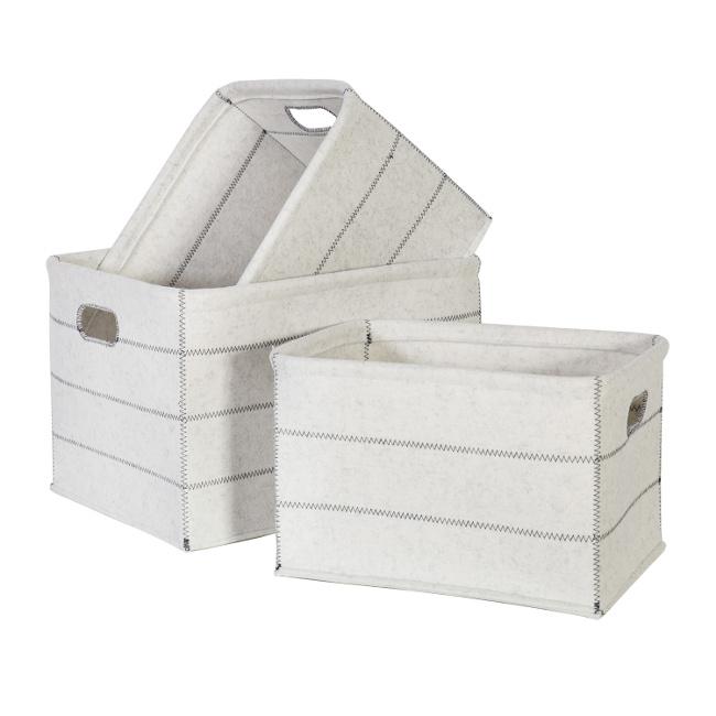 На фото: Набір коробок Lido (8348), Плетені кошики Home4You, каталог, ціна