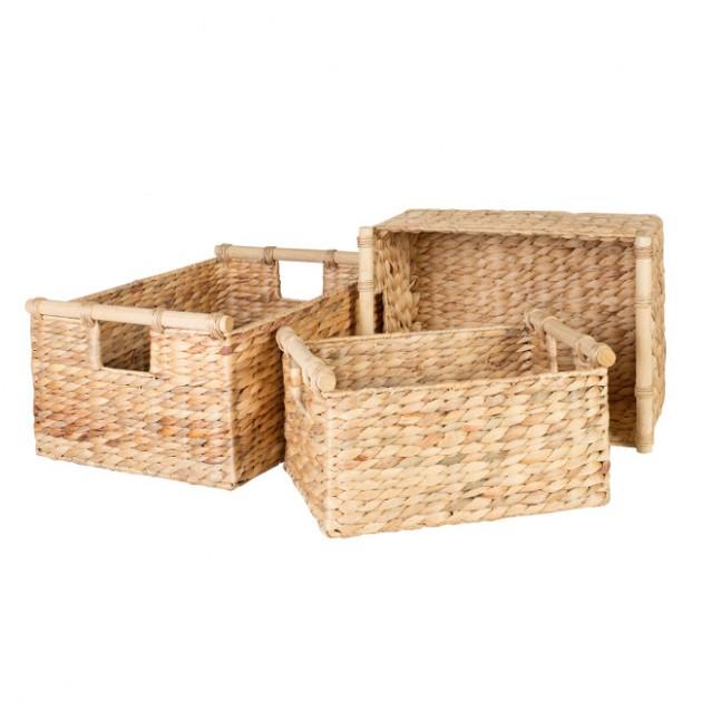 На фото: Набір кошиків Maya (70610), Плетені кошики Home4You, каталог, ціна