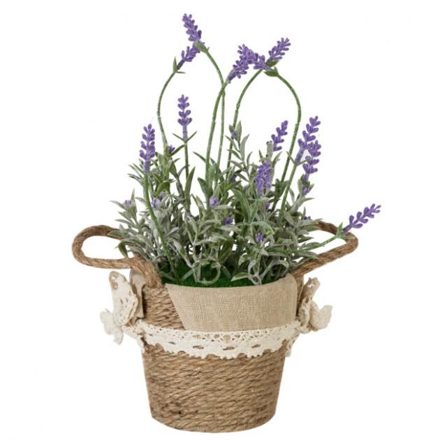 На фото: Лаванда In Garden (76542), Штучні квіти Home4You, каталог, ціна