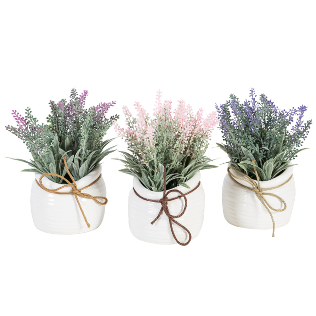 На фото: Лаванда In Garden (76551), Штучні квіти Home4You, каталог, ціна
