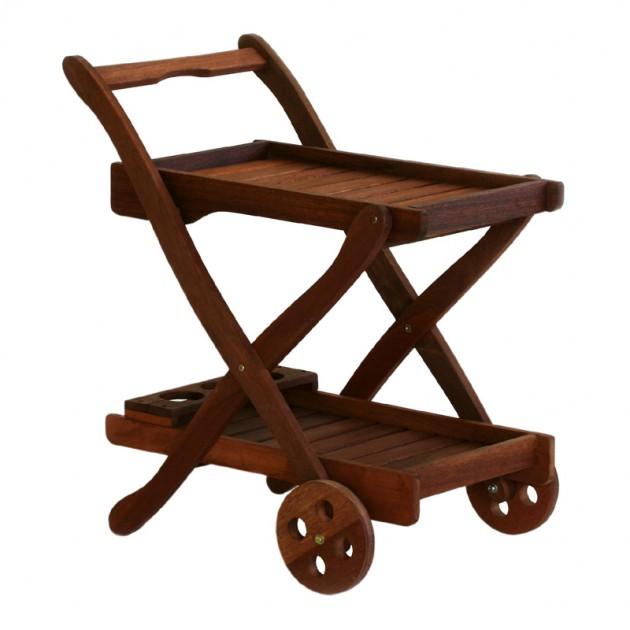 На фото: Сервірувальний столик Viktoria (07092), Дерев'яні столи Garden4You, каталог, ціна