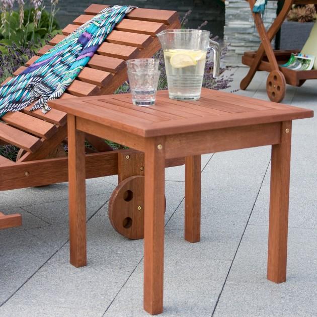 На фото: Столик Bordeaux (07097), Дерев'яні столи Garden4You, каталог, ціна