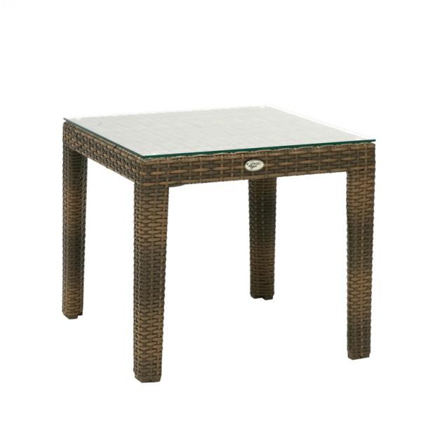 На фото: Допоміжний столик Wicker Cappuccino (11850), Столи зі штучного ротангу Garden4You, каталог, ціна