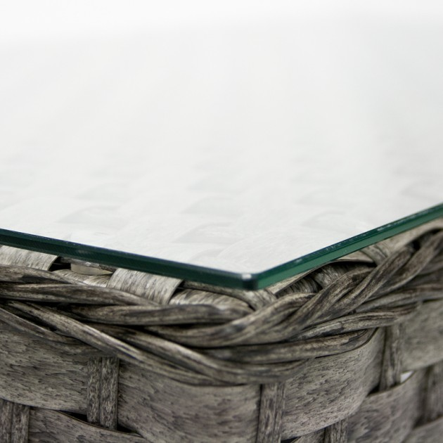 На фото: Столик Geneva (11906), Столи зі штучного ротангу Garden4You, каталог, ціна