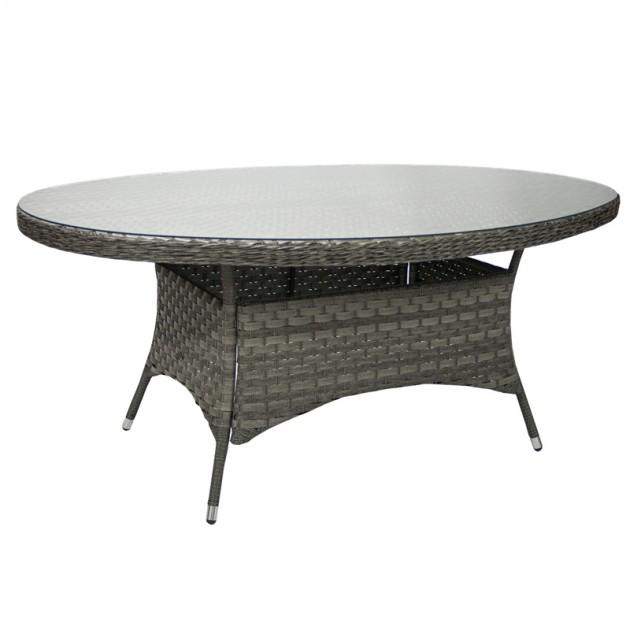 На фото: Овальний обідній стіл Geneva Grey (11970), Столи зі штучного ротангу Garden4You, каталог, ціна