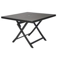 На фото: Складаний стіл Stella (13140), Столи зі штучного ротангу Garden4You, каталог, ціна