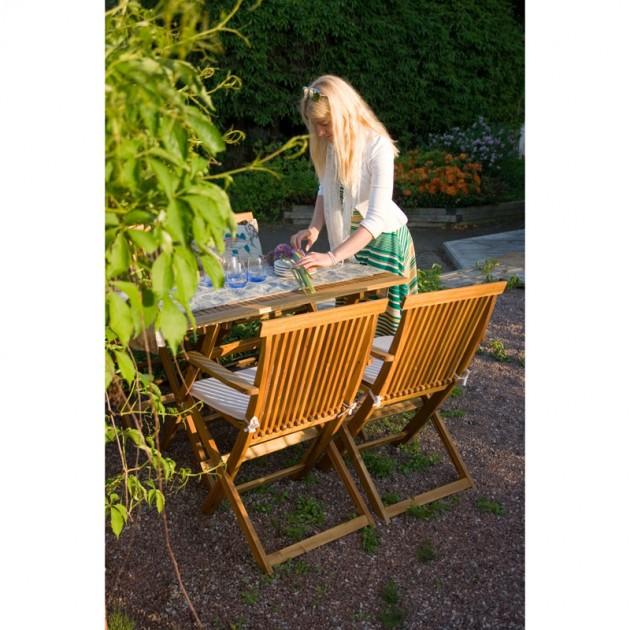 На фото: Стілець з підлокітниками Finlay (13182), Дерев'яні стільці Garden4You, каталог, ціна