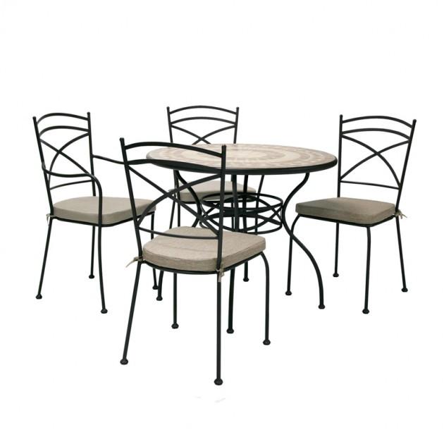 На фото: Стілець Riviera (13270), Металеві стільці Garden4You, каталог, ціна