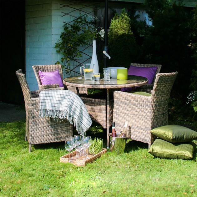 На фото: Стіл Wicker (13322), Столи зі штучного ротангу Garden4You, каталог, ціна