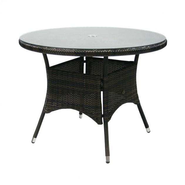 На фото: Круглий стіл Wicker Dark Brown D100 (13323), Wicker Garden4You, каталог, ціна
