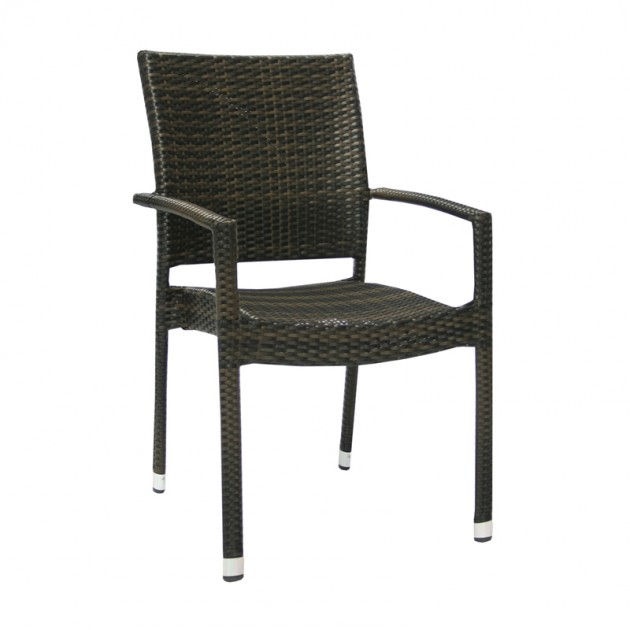 На фото: Столовий комплект Wicker Dark Brown D120 (k11977), Столові комплекти зі штучного ротангу Garden4You, каталог, ціна