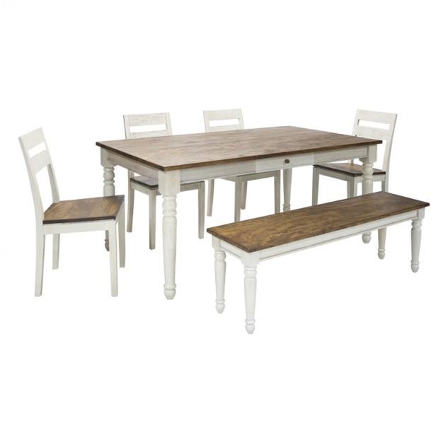 На фото: Обеденный стол Berit (18661), Обідні столи Home4You, каталог, ціна