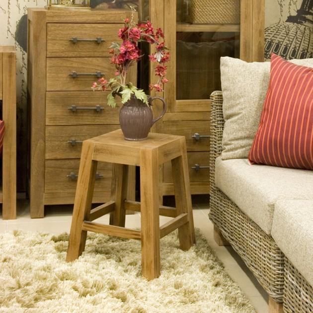 На фото: Дерев'яний табурет Willa (19898), Стільці для дому Home4You, каталог, ціна
