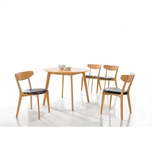 На фото: Деревянный стул для кухни Oliana (20899), Стільці для дому Home4You, каталог, ціна