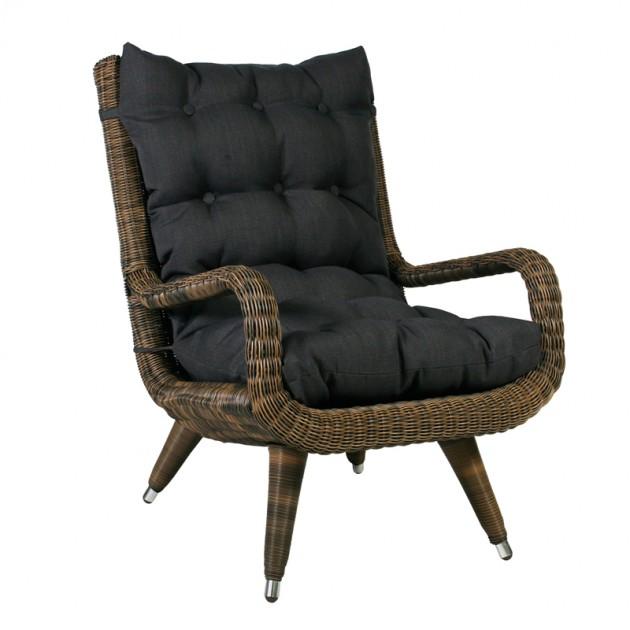 На фото: Крісло Mira (27681), Крісла зі штучного ротангу Garden4You, каталог, ціна