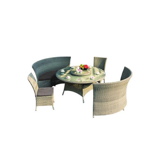 На фото: Комплект Voltena (277401), Столові комплекти зі штучного ротангу Garden4You, каталог, ціна