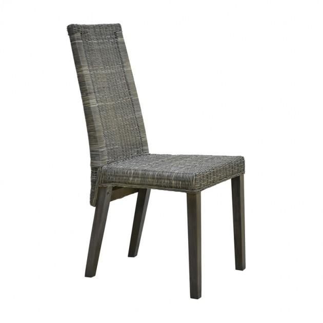 На фото: Ротанговый стул для кухни Kedi (295420), Стільці для дому Home4You, каталог, ціна