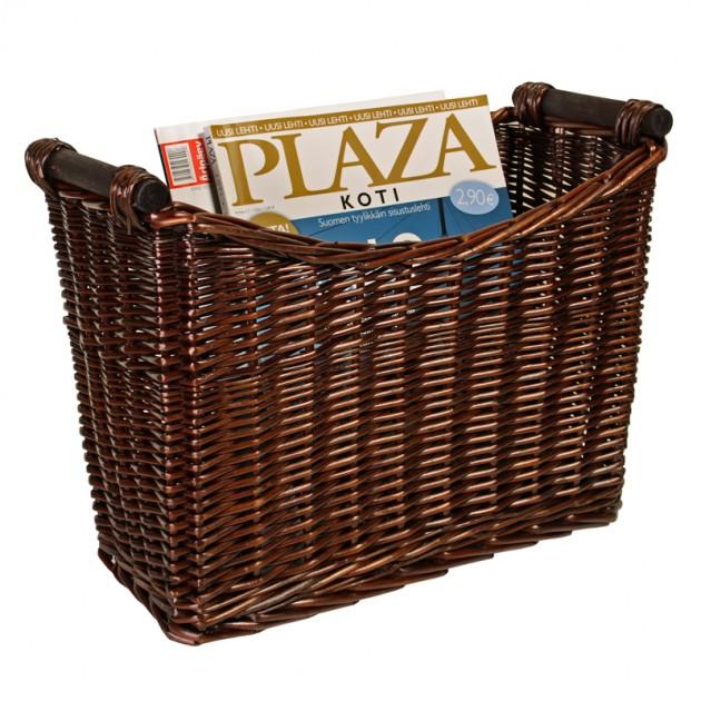 На фото: Газетница Max (6104), Плетені кошики Home4You, каталог, ціна