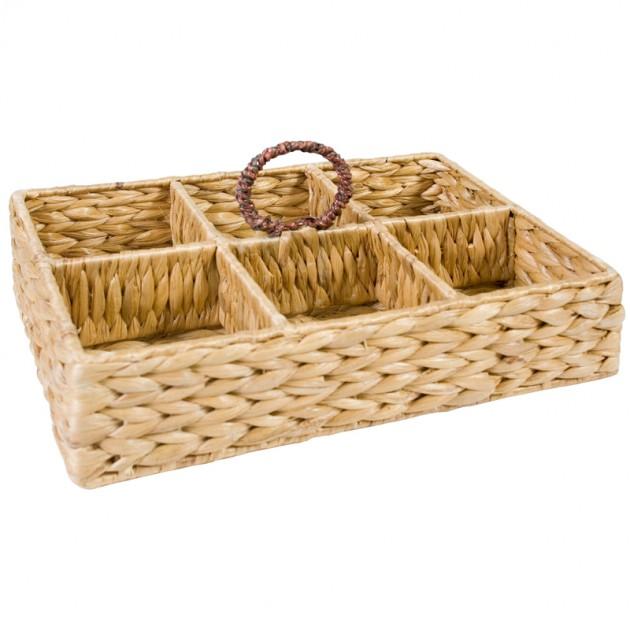 На фото: Корзина для стаканов (62419), Плетені кошики Home4You, каталог, ціна